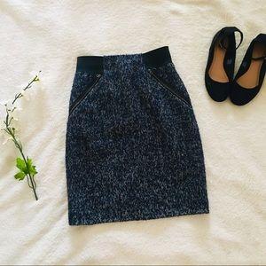 $5 W/ BUNDLE Halogen Navy Zipper Pencil Skirt